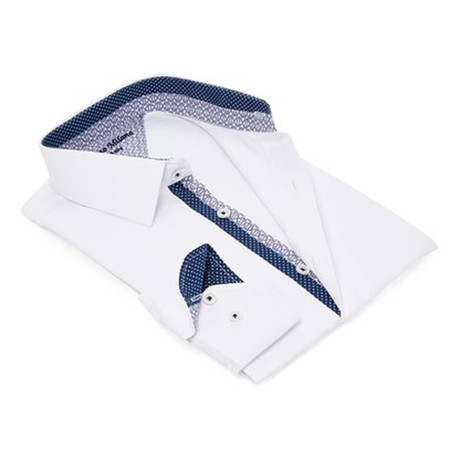 True Modern-Fit Men's Dress Shirt // White (S)