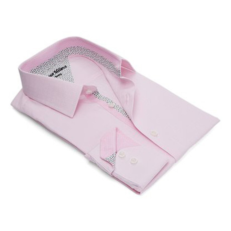 True Modern-Fit Men's Dress Shirt // Pink (S)
