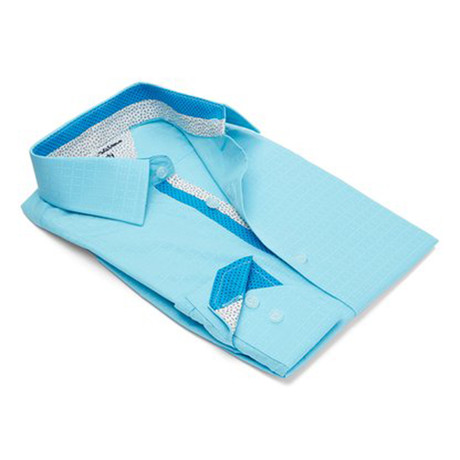 True Modern-Fit Men's Dress Shirt // Turquoise (S)