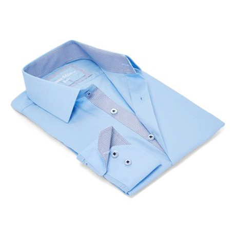 True Modern-Fit Men's Dress Shirt // Blue Bird (S)