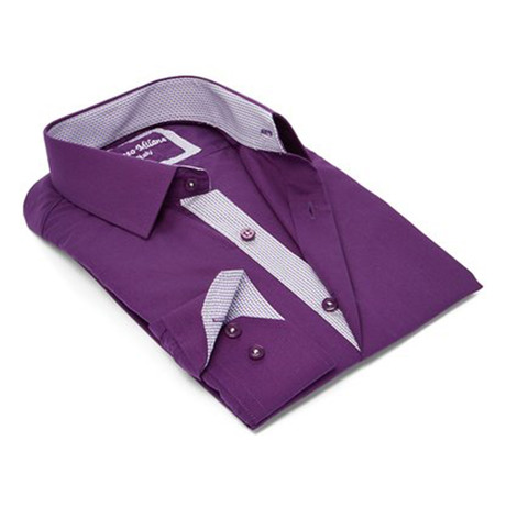 Modern-Fit Dress Shirt // Eggplant (S)