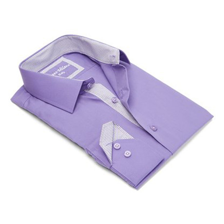 Modern-Fit Dress Shirt // Grape (S)