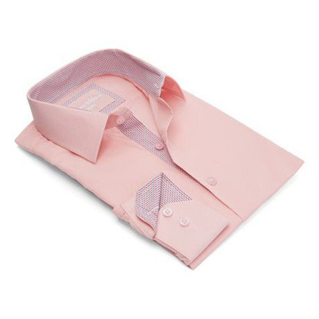 True Modern-Fit Men's Dress Shirt // Powder Pink (S)