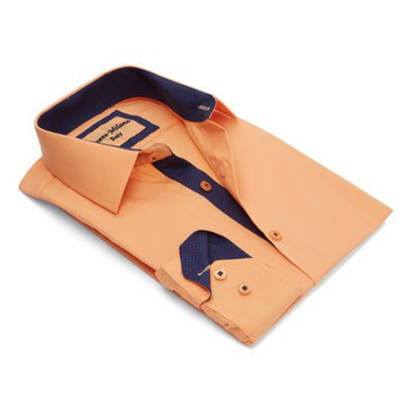 True Modern-Fit Men's Dress Shirt // Petal Peach (S)