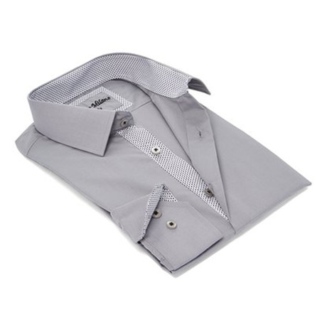 True Modern-Fit Men's Dress Shirt // Shell Gray (S)