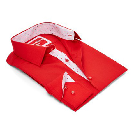 True Modern-Fit Men's Dress Shirt // Red (S)