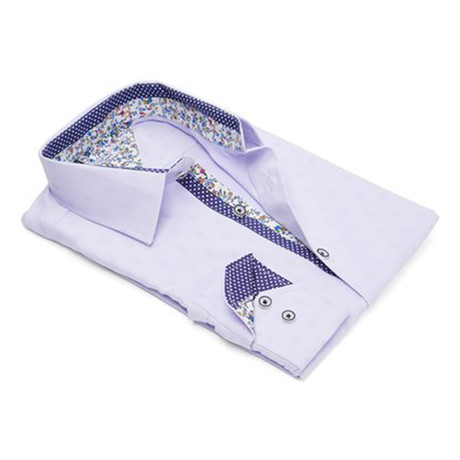 True Modern-Fit Men's Dress Shirt // Lavendar (S)