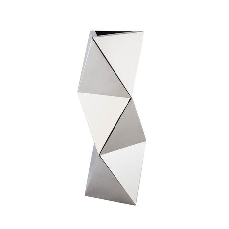 Geometric Shapes Vase // Stainless Steel