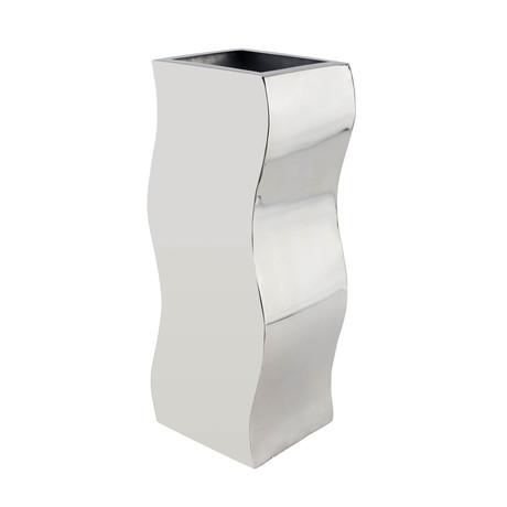 Circular Zig-Zag Vase // Stainless Steel // Large