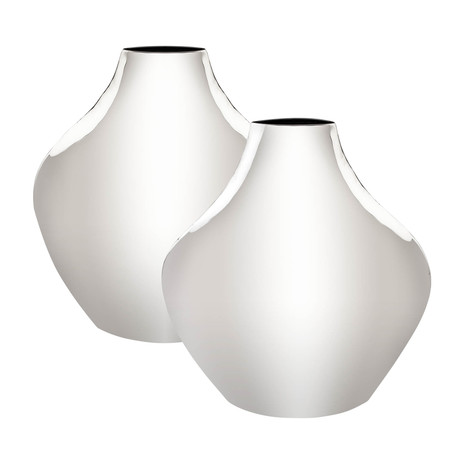 Calyx Vase // Stainless Steel // Set of Two