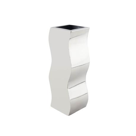 Circular Zig-Zag Vase // Stainless Steel // Small