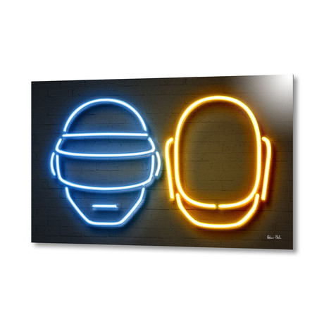 "Daft Punk // Aluminum (16""W x 24""H x 1.5""D)"