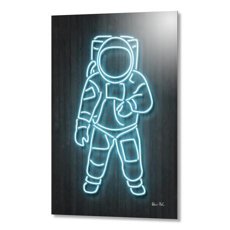 "Astronaut // Aluminum (16""W x 24""H x 1.5""D)"