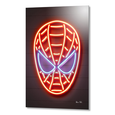 "Spiderman // Aluminum (16""W x 24""H)"