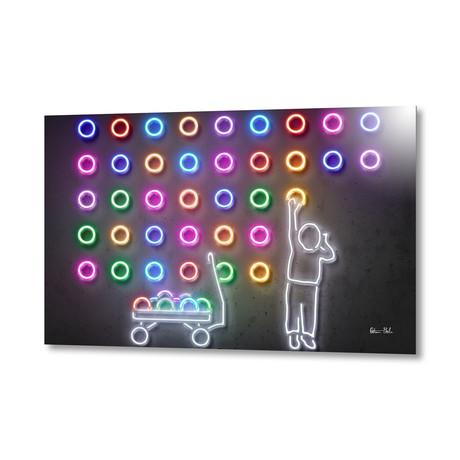 """Dots // Aluminum (24""""W x 16""""H)"""
