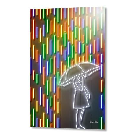 "Rain // Aluminum (16""W x 24""H)"