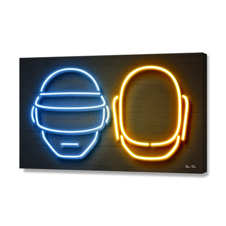 "Daft Punk // Stretched Canvas (24""W x 16""H)"