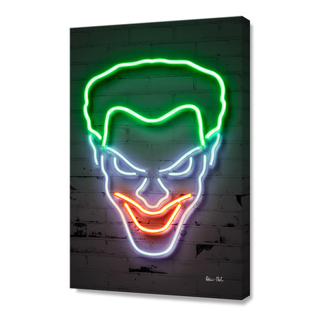 "Joker // Stretched Canvas (16""W x 24""H)"