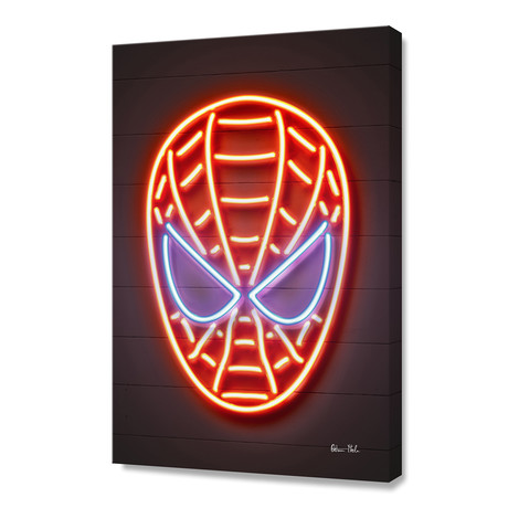 "Spiderman // Stretched Canvas (16""W x 24""H)"