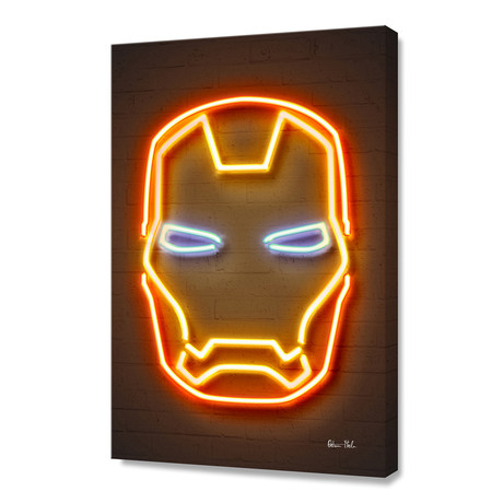 "Ironman // Stretched Canvas (16""W x 24""H)"