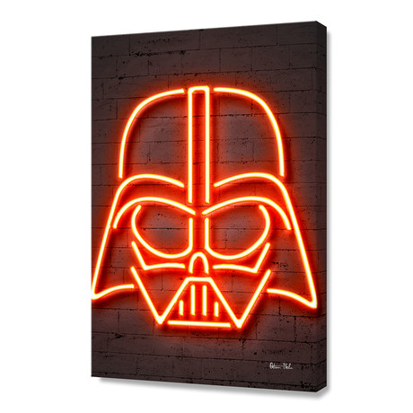 "Darth Vader // Stretched Canvas (16""W x 24""H)"