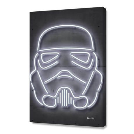 "Stormtrooper // Stretched Canvas (16""W x 24""H)"