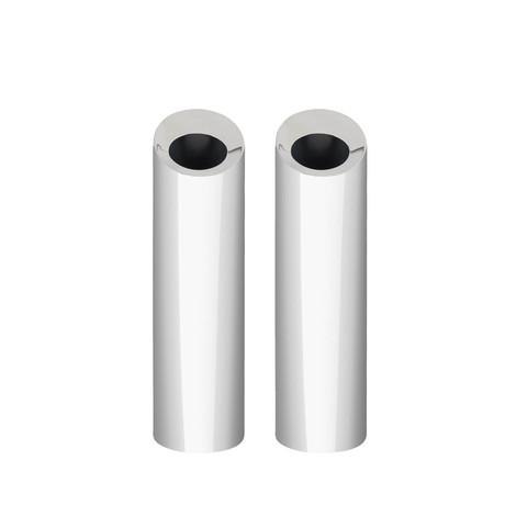 Bud Oblong Vase // Stainless Steel // Set of Two