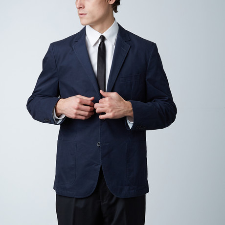Cotton Soft Sport Coat // Navy (US: 46R)
