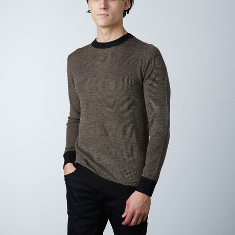 Swinton Round Collar Sweater // Wood (S)