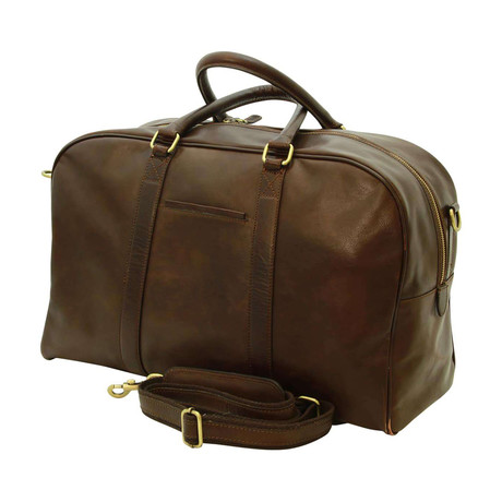 Florentine Collection // Calfskin Leather Duffel Bag (Brown)