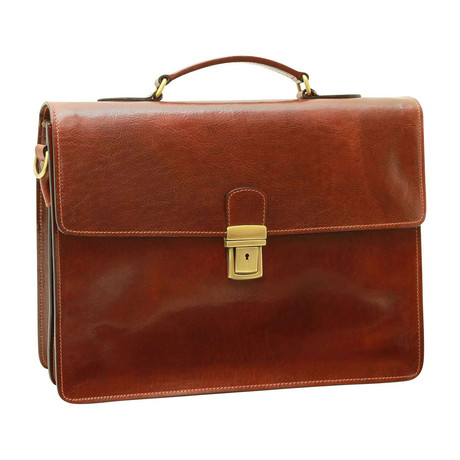 Toscana Collection // Leather Laptop Briefcase