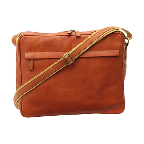Toscana Collection // Calfskin Leather Messenger (Tan)