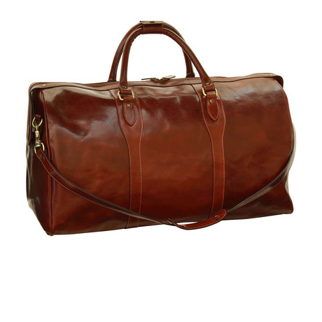 Toscana Collection // Leather Travel Duffel Bag