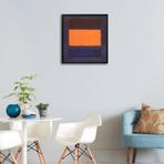 Untitled, Brown and Orange on Maroon