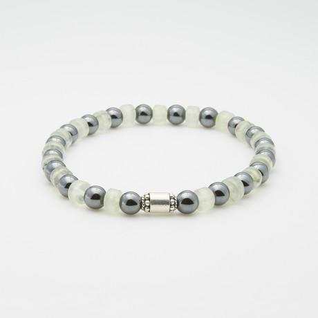 Dell Arte // Hematite + Rodenite Bracelet