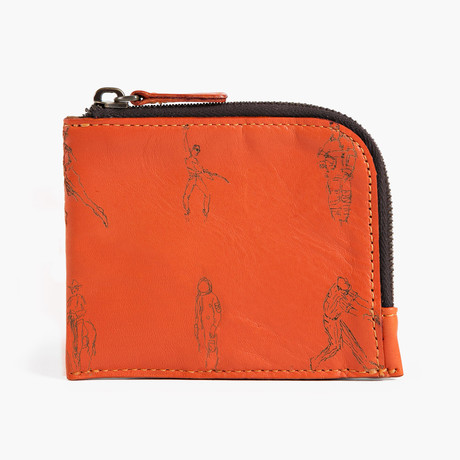 Half Zip Wallet // Monterosso Orange