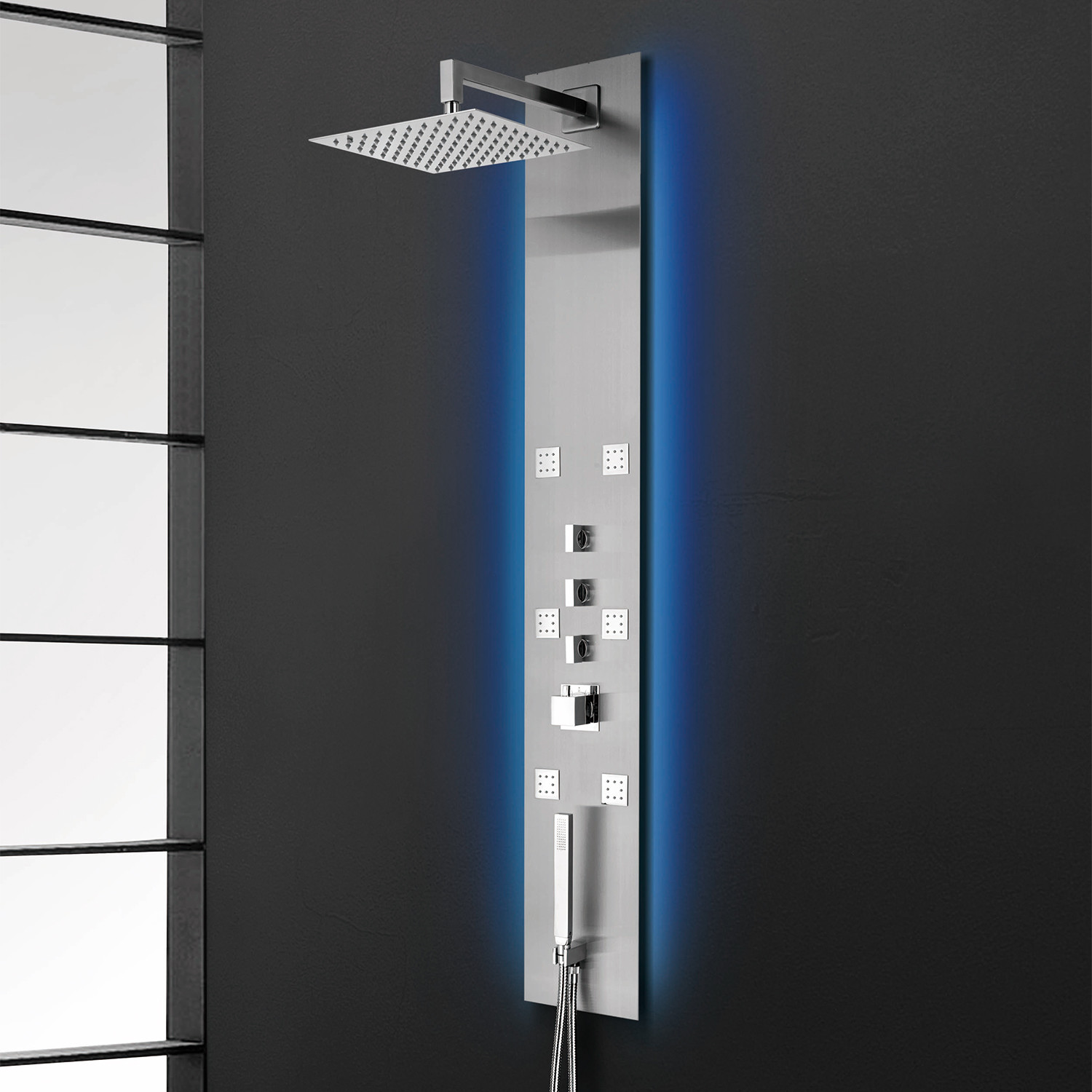 Flux Recessed // LED Shower Panel - Nezza USA - Touch of Modern
