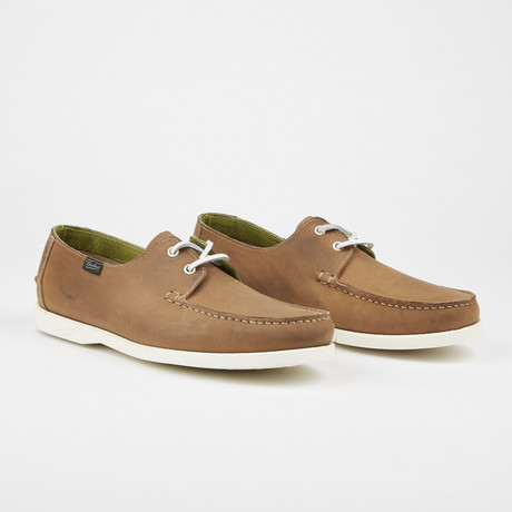Domingue Nubak Boat Shoe // Taupe (US: 7)