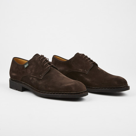 Freney Suede Plain Toe Lace-Up Shoe // Brown (US: 7)