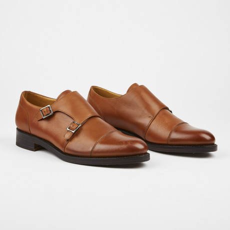 Vivaldi Cap Toe Monkstrap // Tan (US: 7)