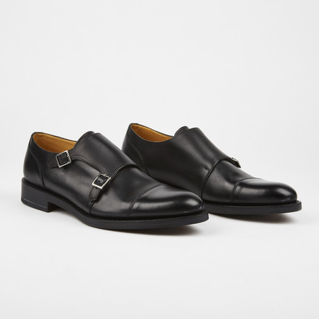 Vivaldi Cap Toe Monkstrap // Black (US: 7)