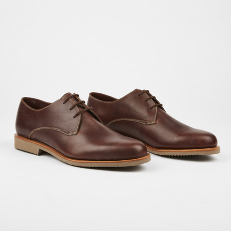 Rive Casual Plain Toe Lace-Up // Brown (US: 7)