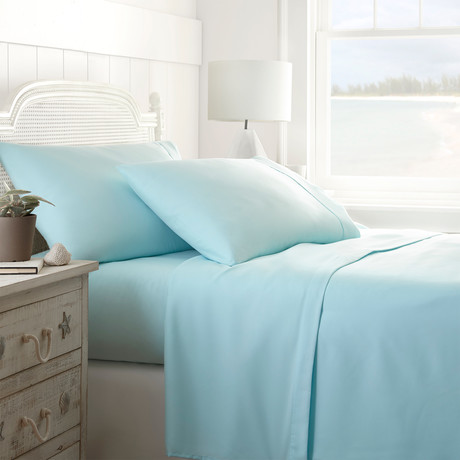 Hotel Collection // Premium Ultra Soft 4 Piece Bed Sheet Set // Aqua (Twin)