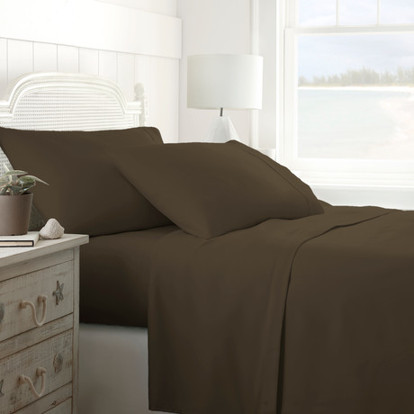 Hotel Collection // Premium Ultra Soft 4 Piece Bed Sheet Set // Chocolate (Twin)