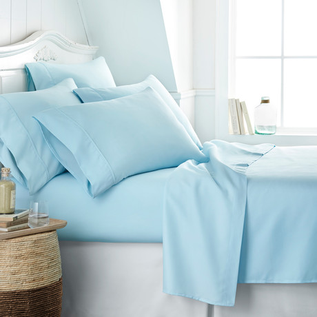 Hotel Collection // Premium Ultra Soft 6 Piece Bed Sheet Set // Aqua (Twin)