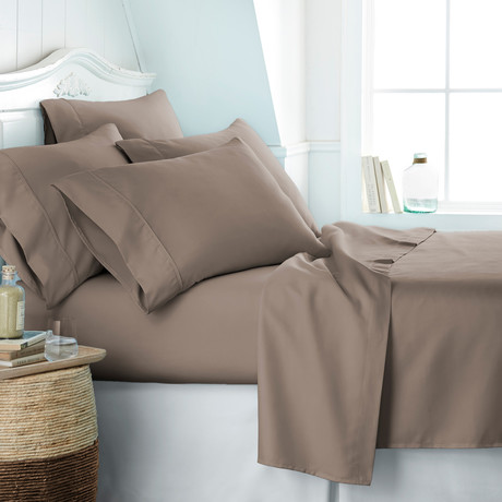 Hotel Collection // Premium Ultra Soft 6 Piece Bed Sheet Set // Taupe (Twin)