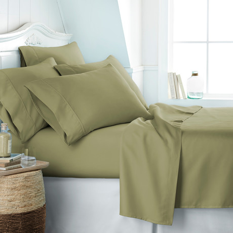 Hotel Collection // Premium Ultra Soft 6 Piece Bed Sheet Set // Sage (Twin)
