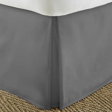 Hotel Collection // Premium Bed Skirt Dust Ruffle // Gray (Twin)