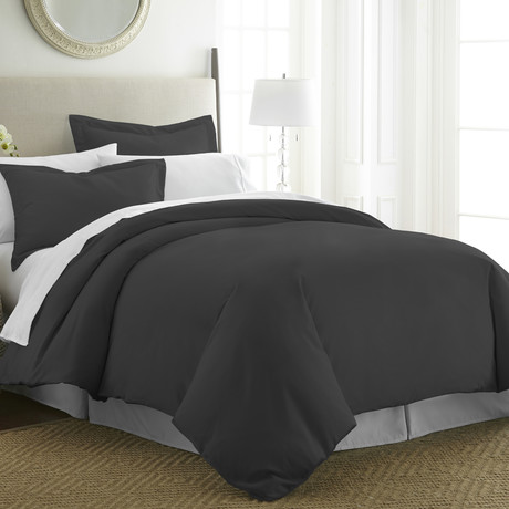 Hotel Collection // Premium Ultra Soft 3 Piece Duvet Cover Set // Black (Twin/Twin XL)