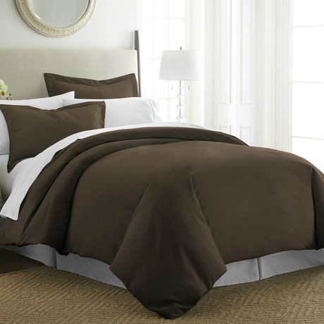 Hotel Collection // Premium Ultra Soft 3 Piece Duvet Cover Set // Chocolate (Twin/Twin XL)